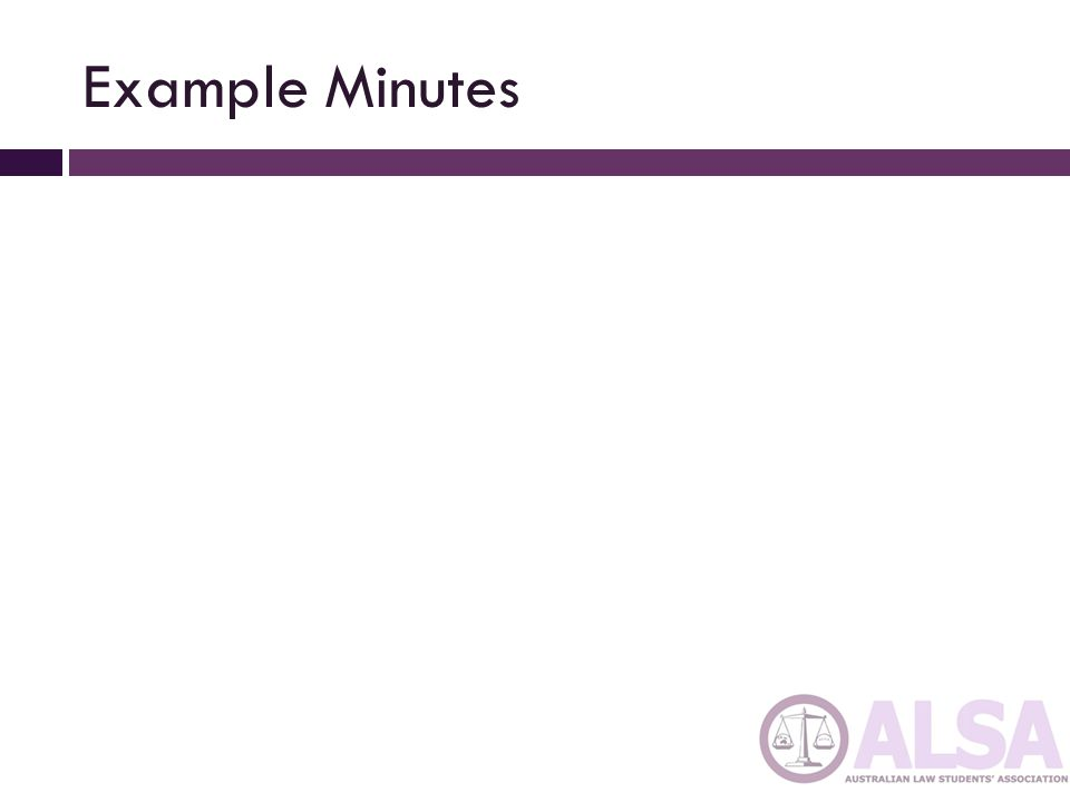 Example Minutes