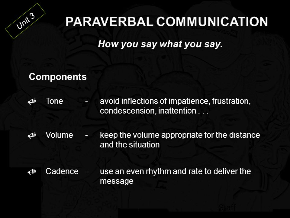PARAVERBAL COMMUNICATION