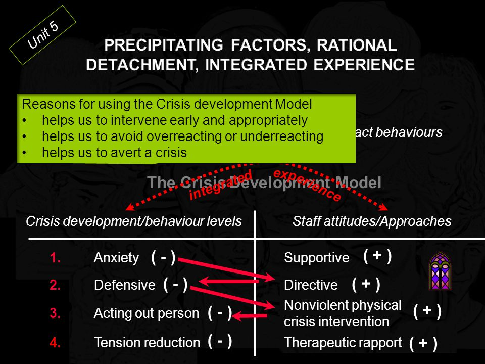 PRECIPITATING FACTORS, RATIONAL DETACHMENT, INTEGRATED EXPERIENCE