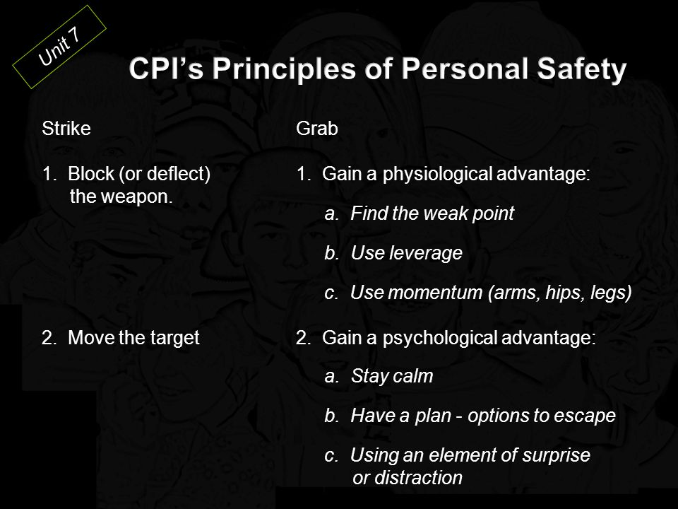 CPI's Principles of Personal Safety