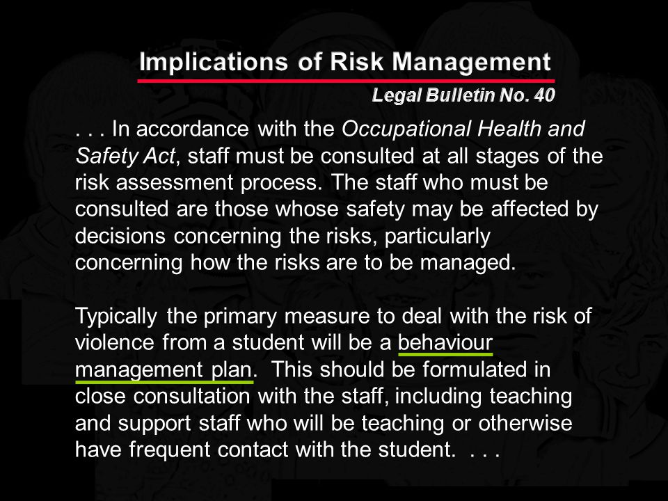 Implications of Risk Management