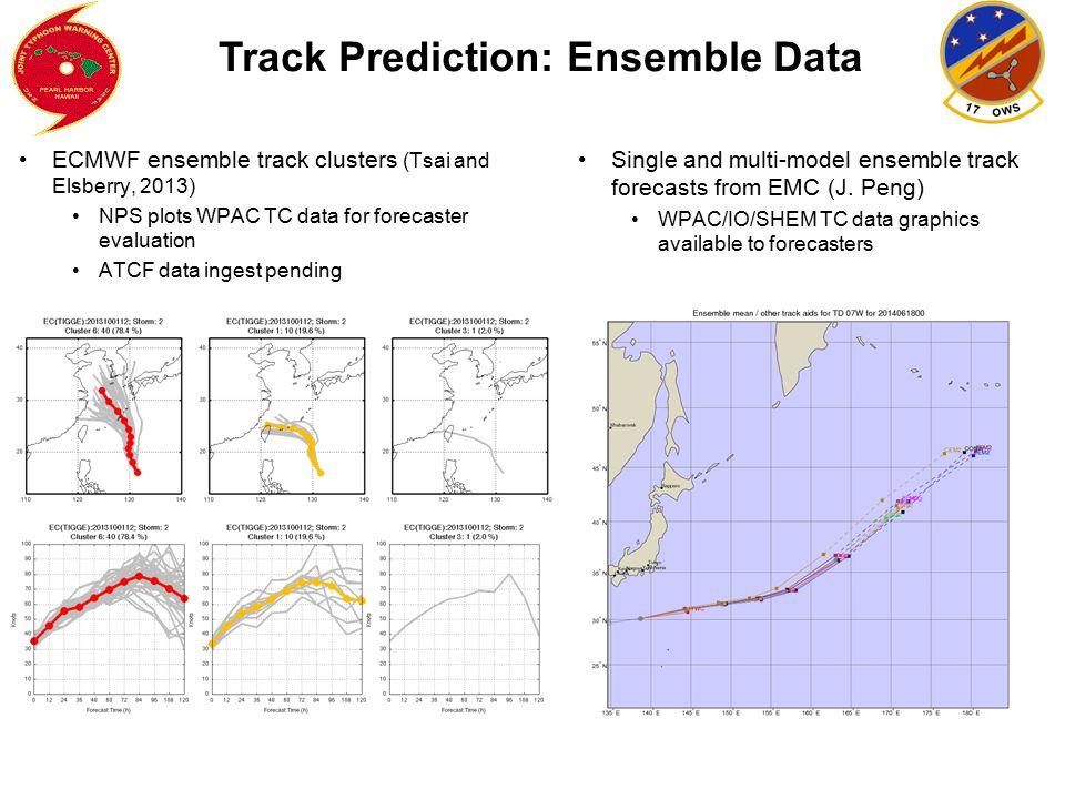 Track Prediction: Ensemble Data