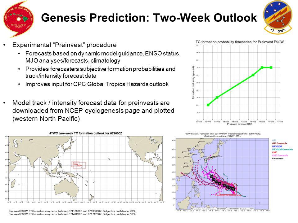 Genesis Prediction: Two-Week Outlook