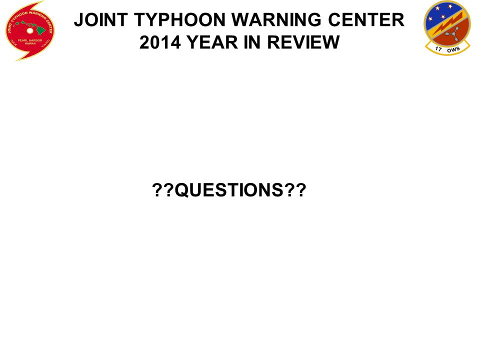 JOINT TYPHOON WARNING CENTER 2014 YEAR IN REVIEW