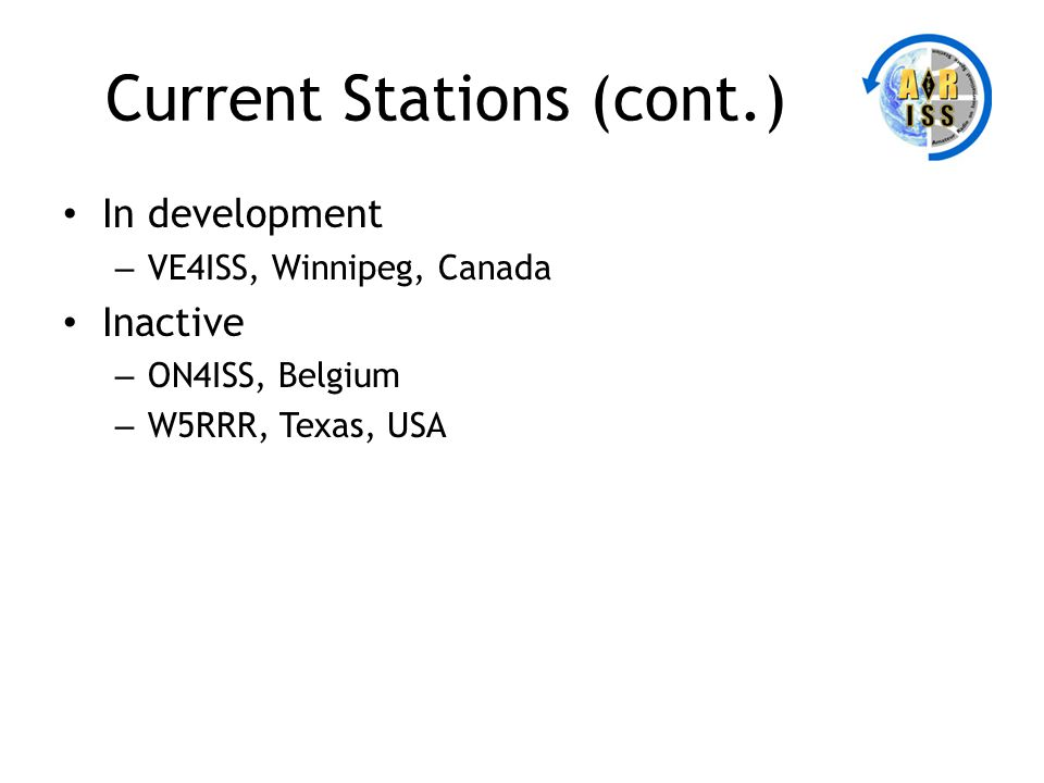 Current Stations (cont.)