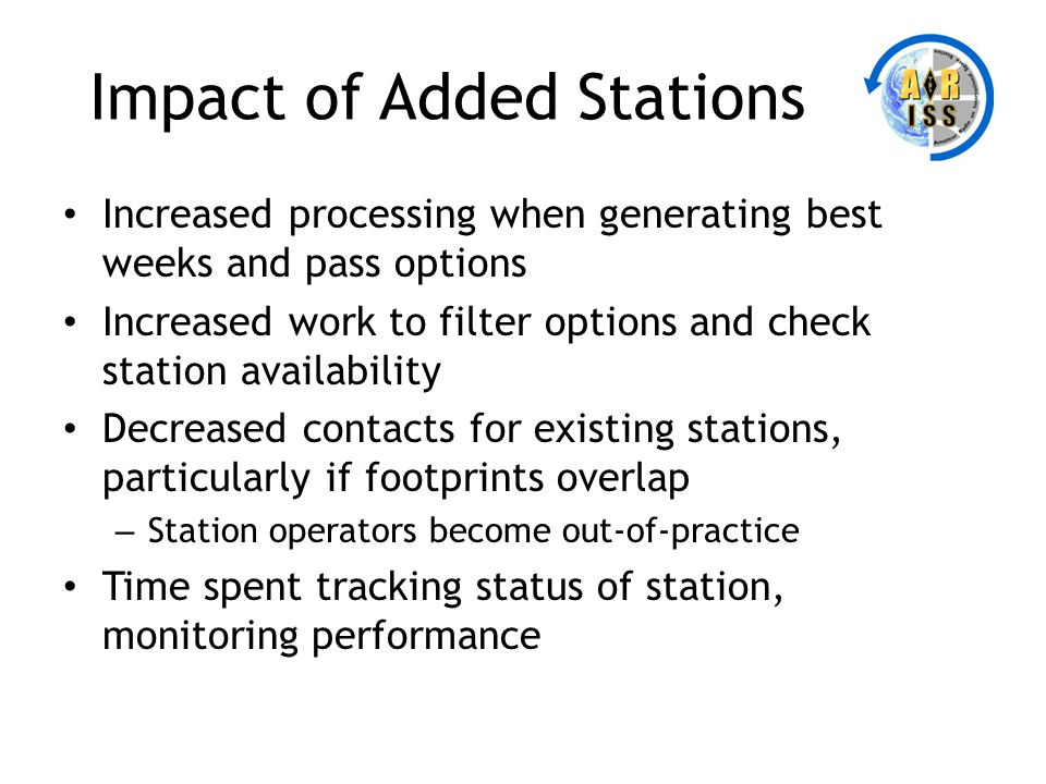 Impact of Added Stations