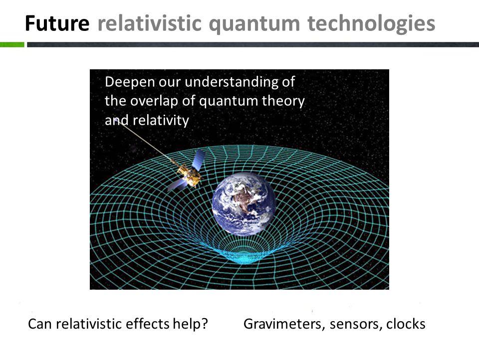 Future relativistic quantum technologies