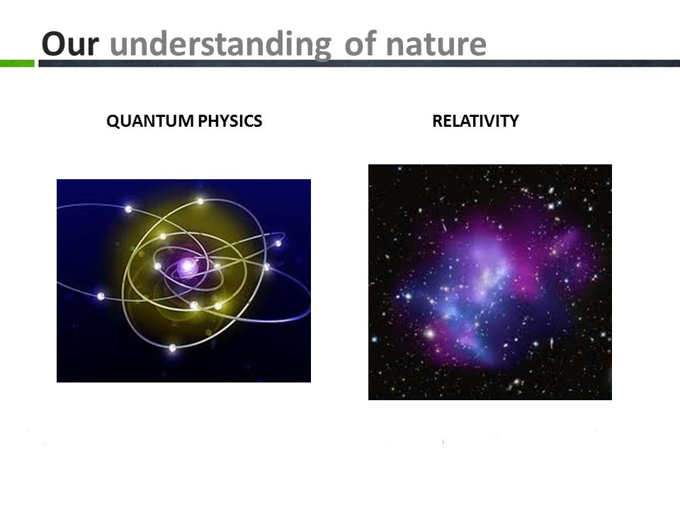 Our understanding of nature