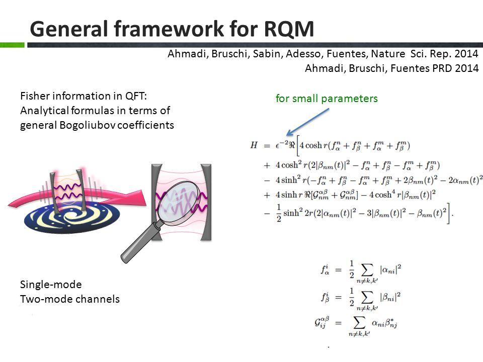 General framework for RQM