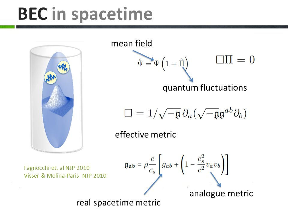 BEC in spacetime mean field quantum fluctuations effective metric