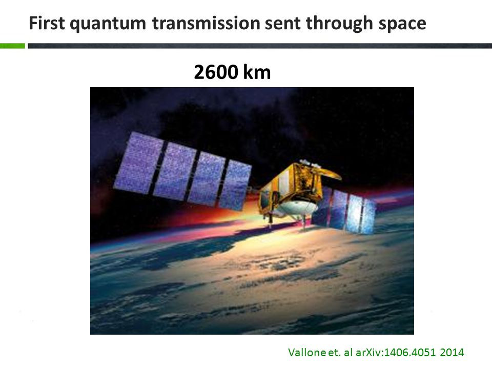 First quantum transmission sent through space