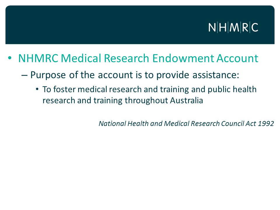NHMRC Medical Research Endowment Account