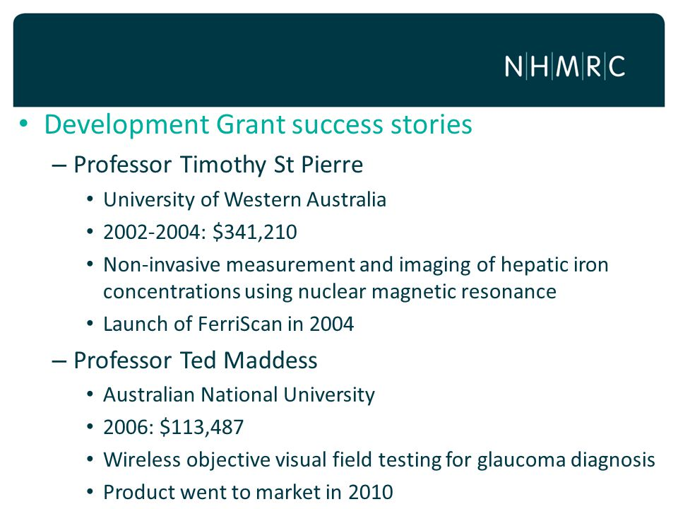 Development Grant success stories