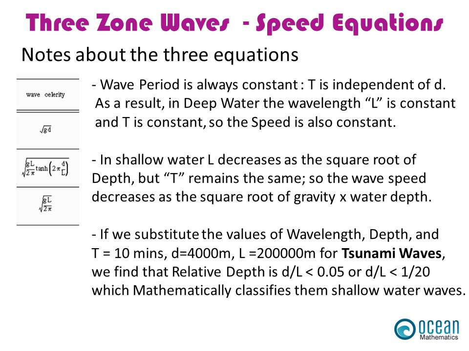 Three Zone Waves - Speed Equations