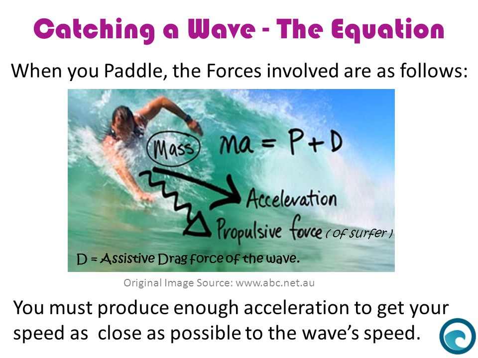 Catching a Wave - The Equation