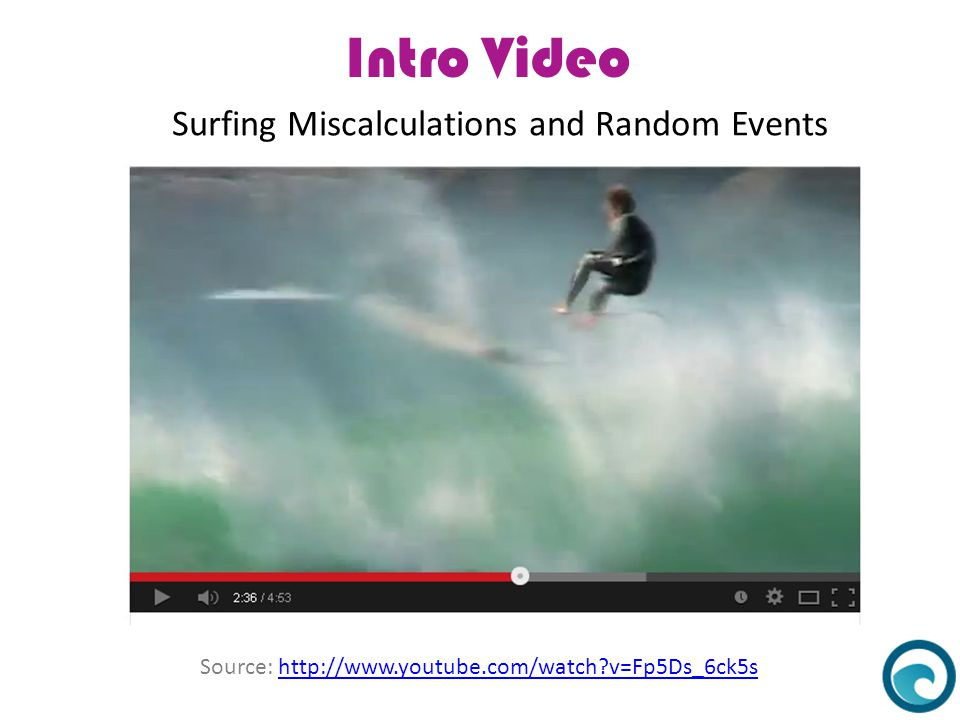 Intro Video Surfing Miscalculations and Random Events