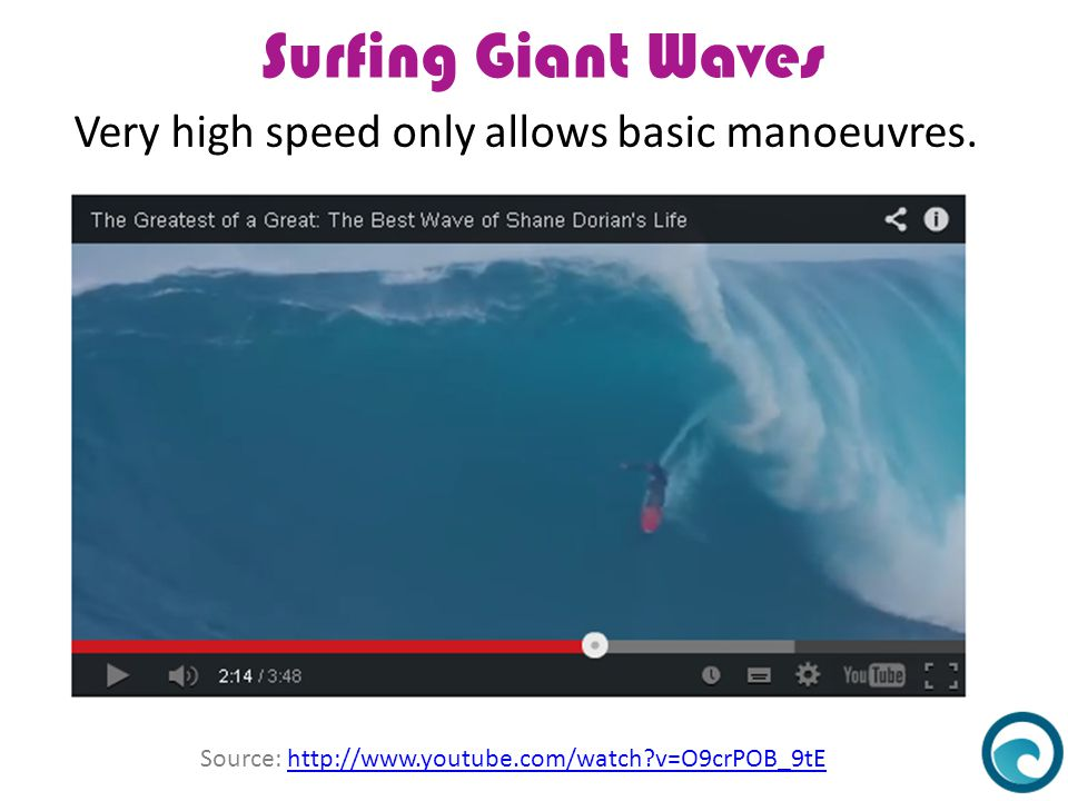 Surfing Giant Waves Very high speed only allows basic manoeuvres.