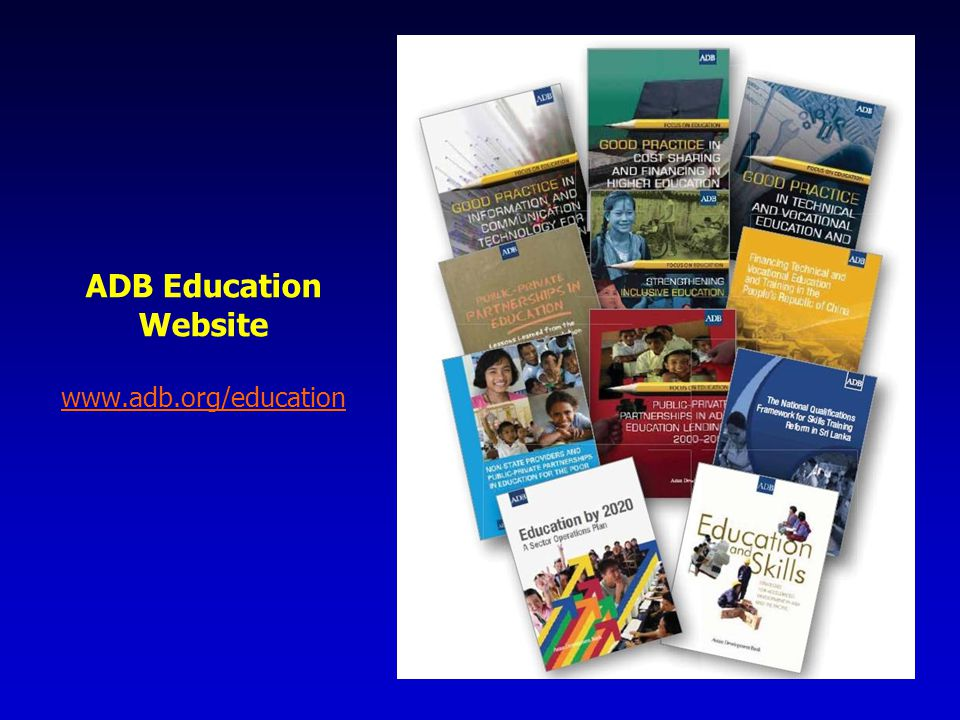 ADB Education Website www.adb.org/education