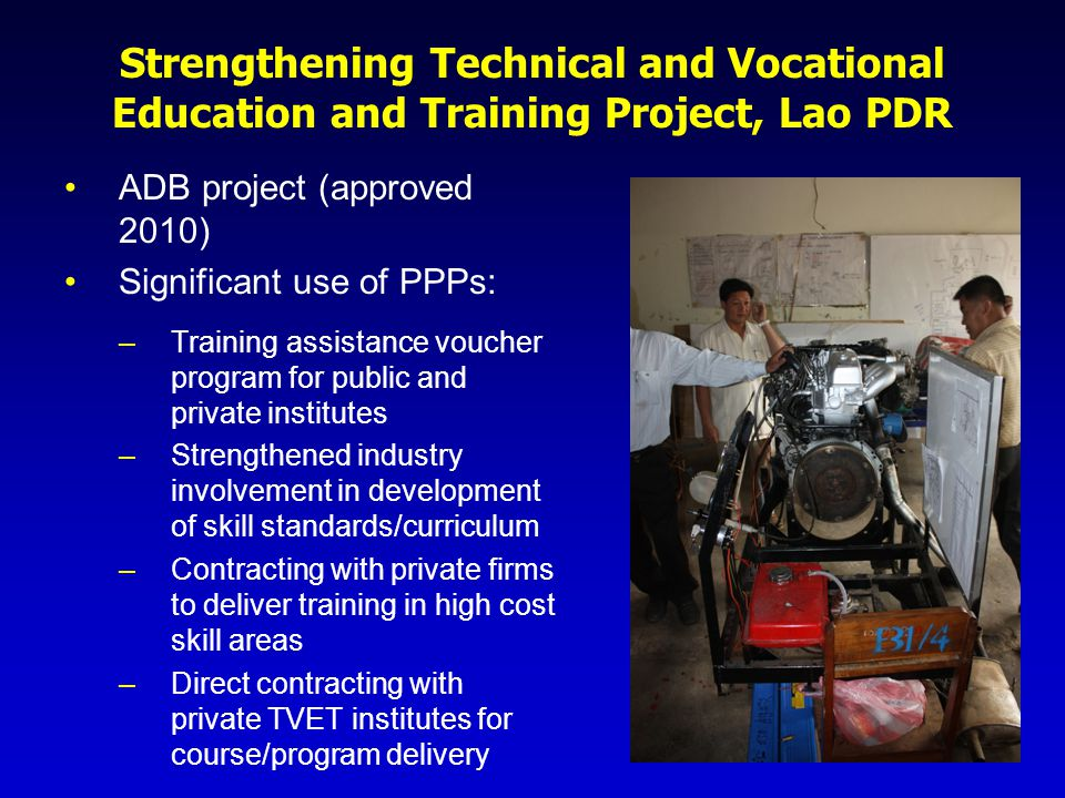 Strengthening Technical and Vocational Education and Training Project, Lao PDR