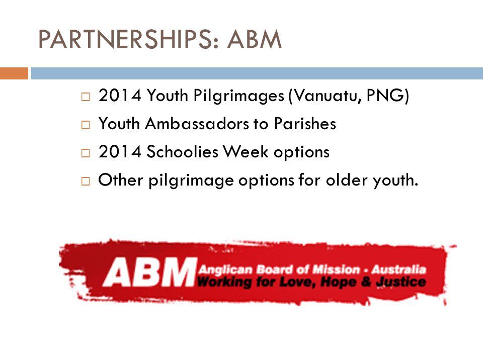 PARTNERSHIPS: ABM 2014 Youth Pilgrimages (Vanuatu, PNG)