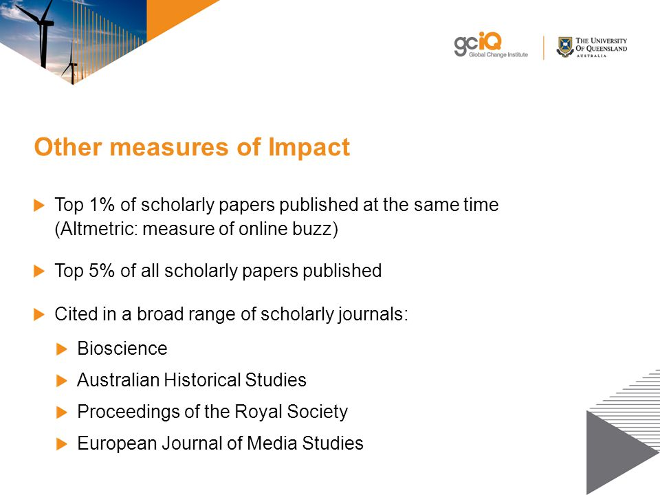 Other measures of Impact