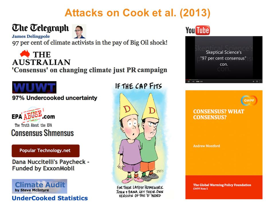 Attacks on Cook et al. (2013)