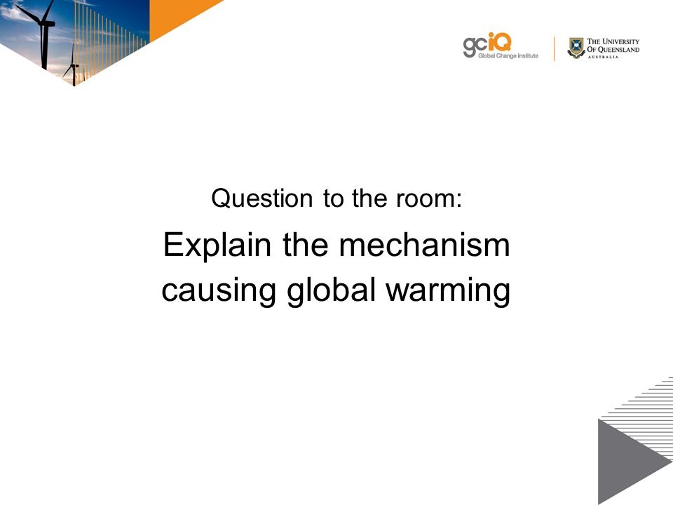 Explain the mechanism causing global warming