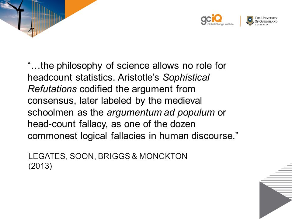 …the philosophy of science allows no role for headcount statistics