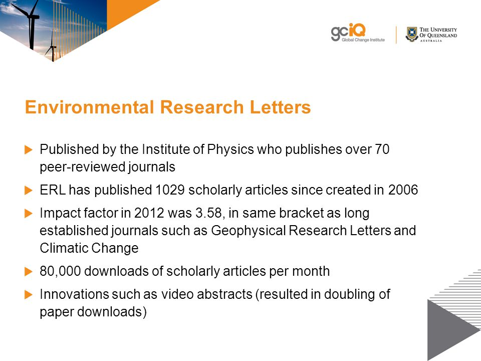 Environmental Research Letters