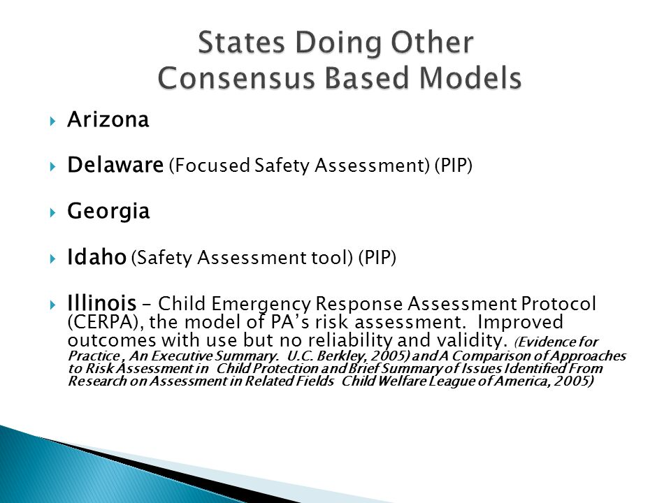 States Doing Other Consensus Based Models