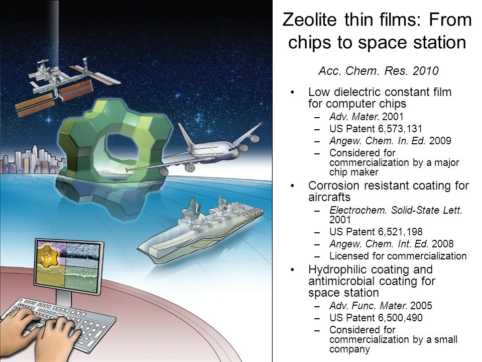 Zeolite thin films: From chips to space station