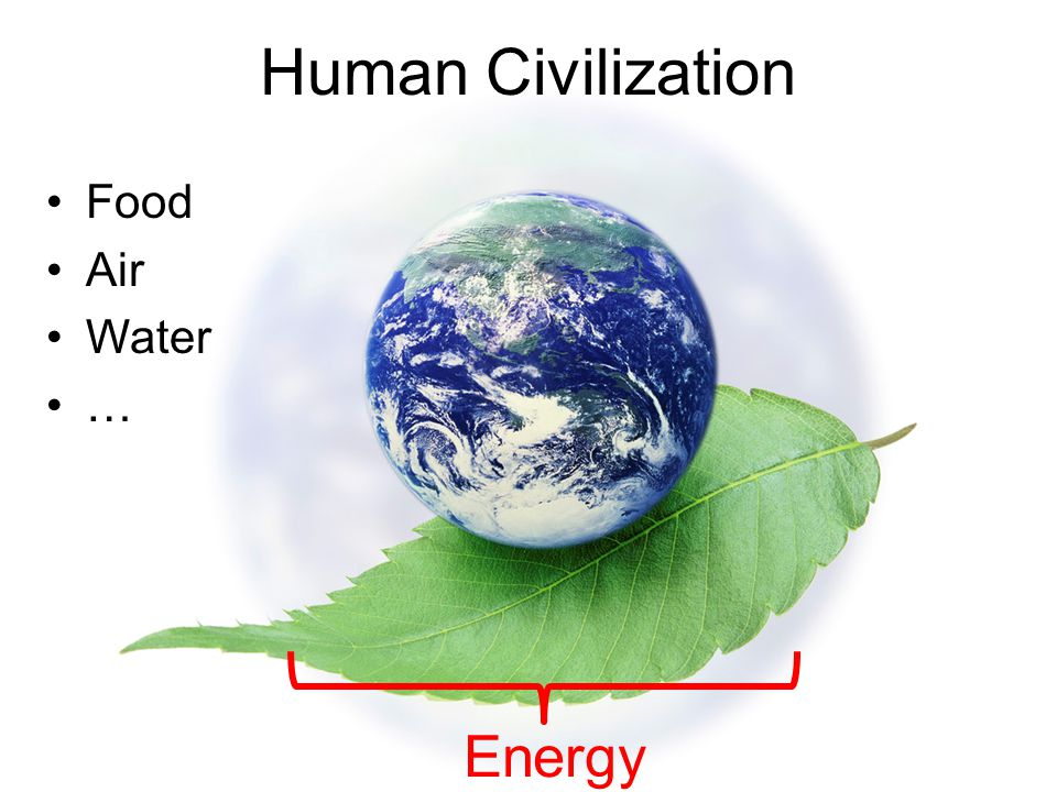 Human Civilization Food Air Water … Energy