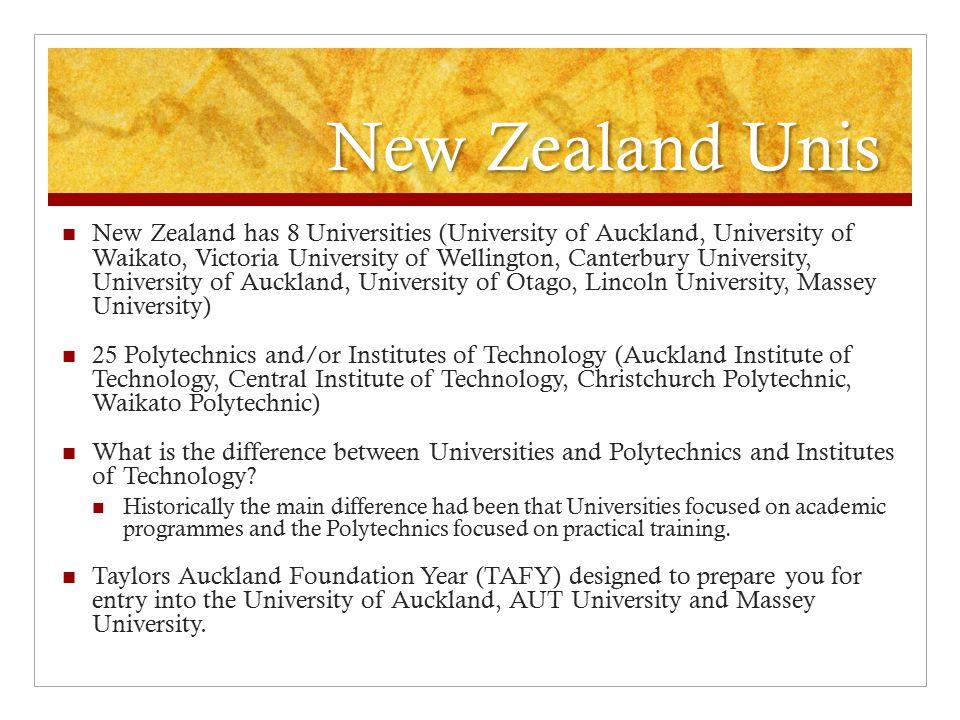 New Zealand Unis