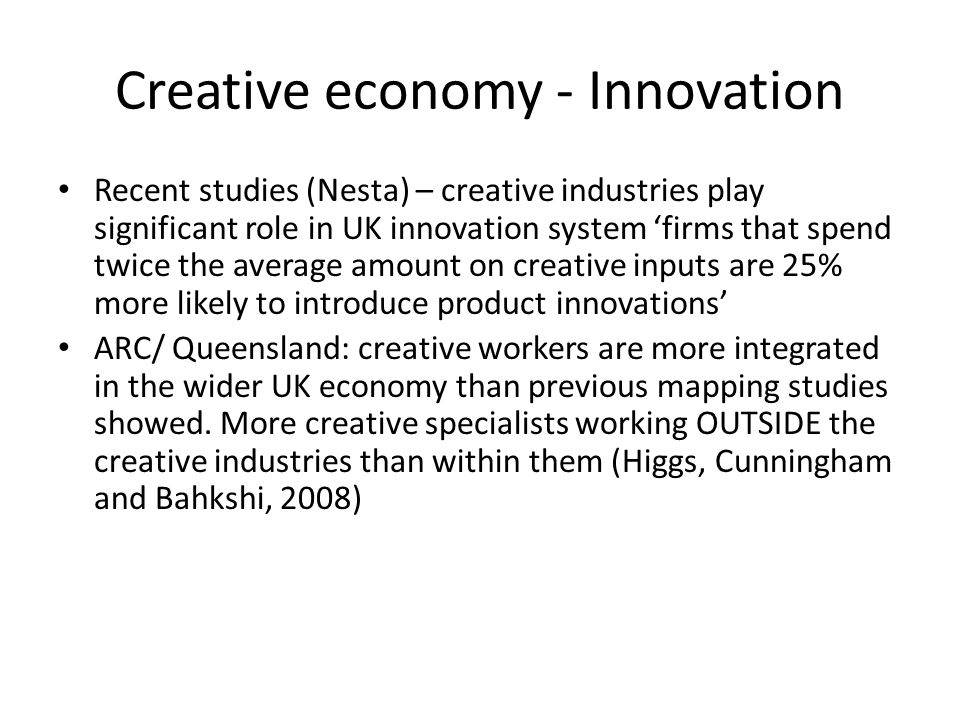 Creative economy - Innovation