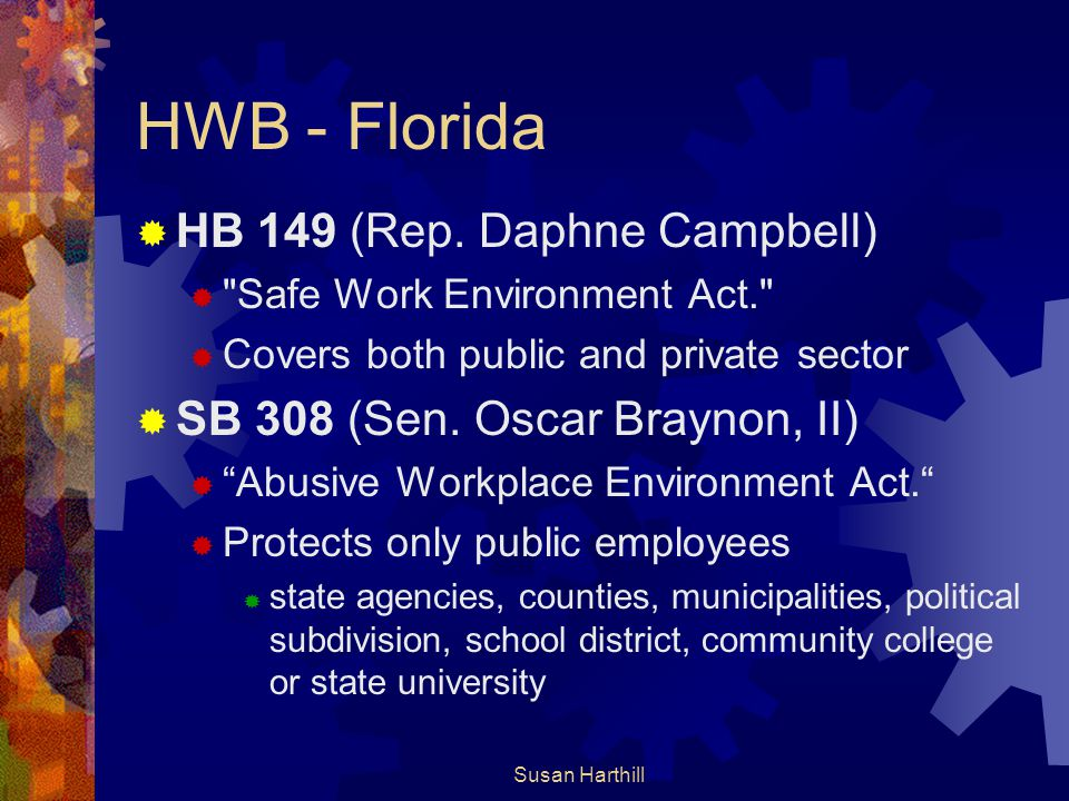 HWB - Florida HB 149 (Rep. Daphne Campbell)