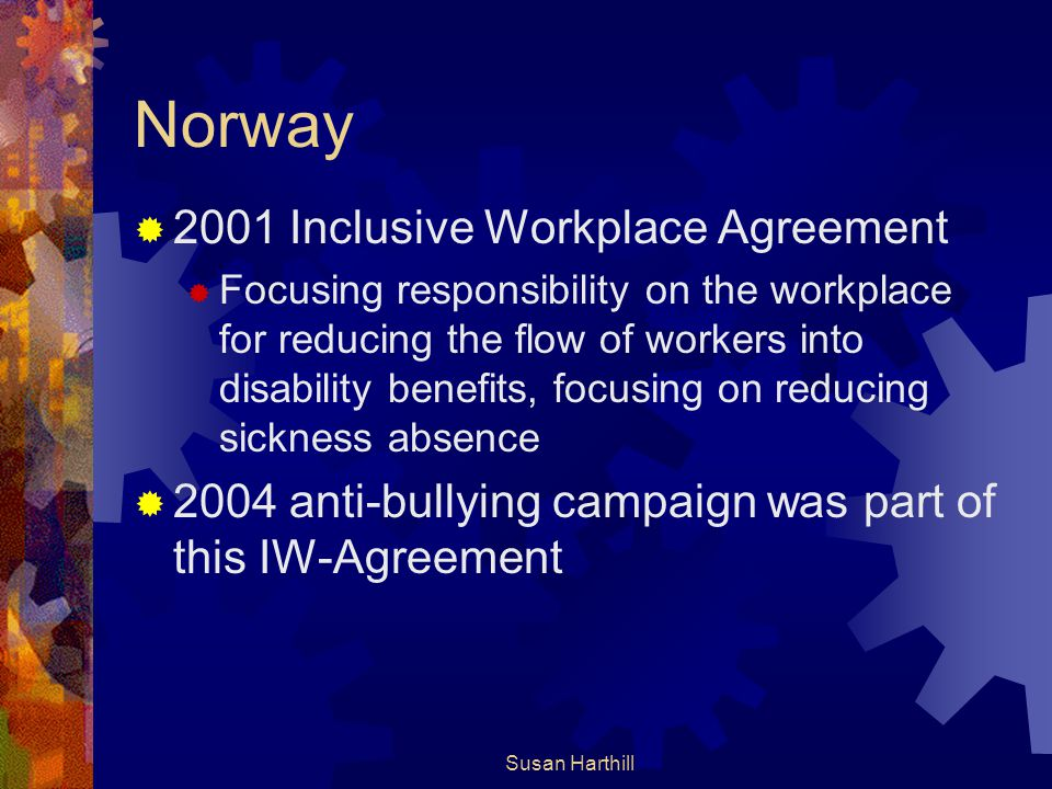 Norway 2001 Inclusive Workplace Agreement
