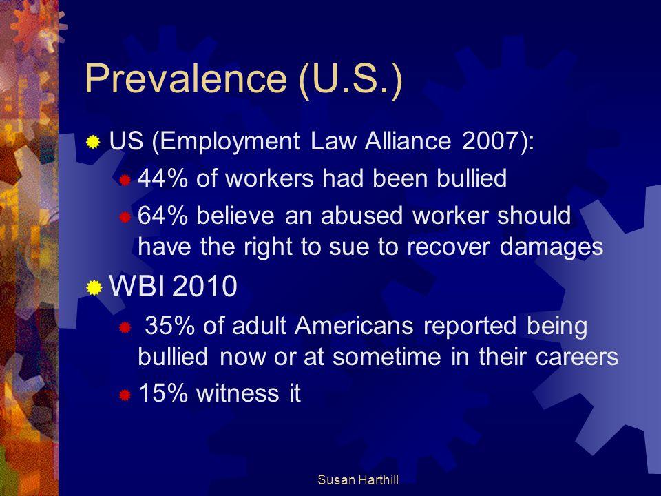 Prevalence (U.S.) WBI 2010 US (Employment Law Alliance 2007):