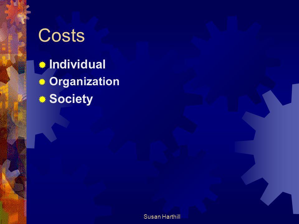 Costs Individual Organization Society Susan Harthill