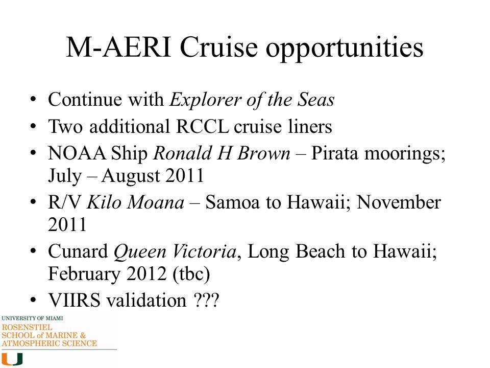 M-AERI Cruise opportunities