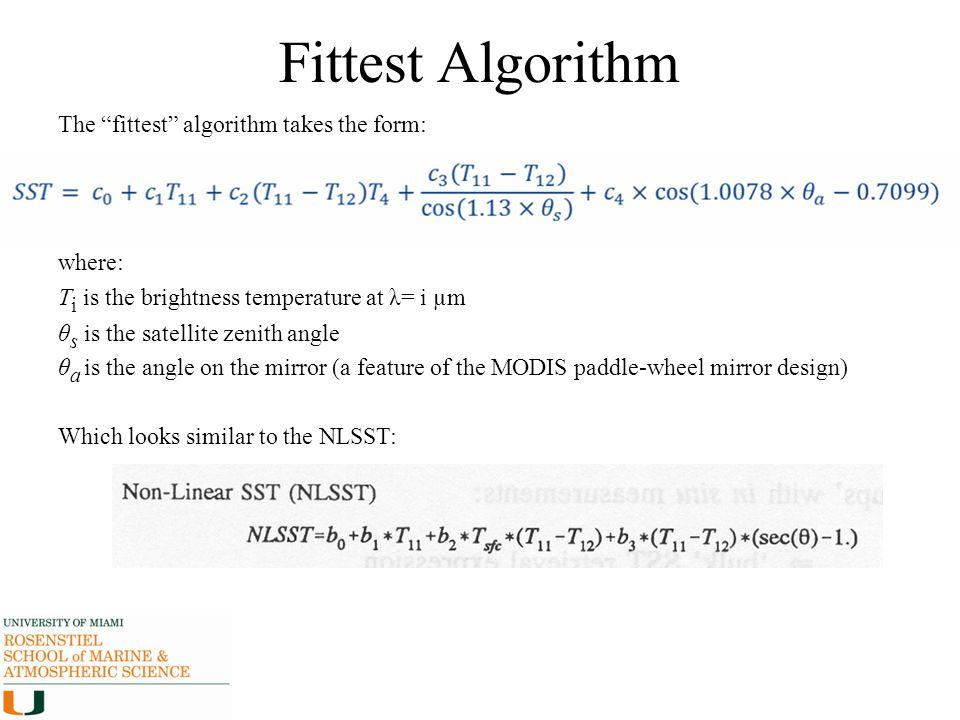 Fittest Algorithm