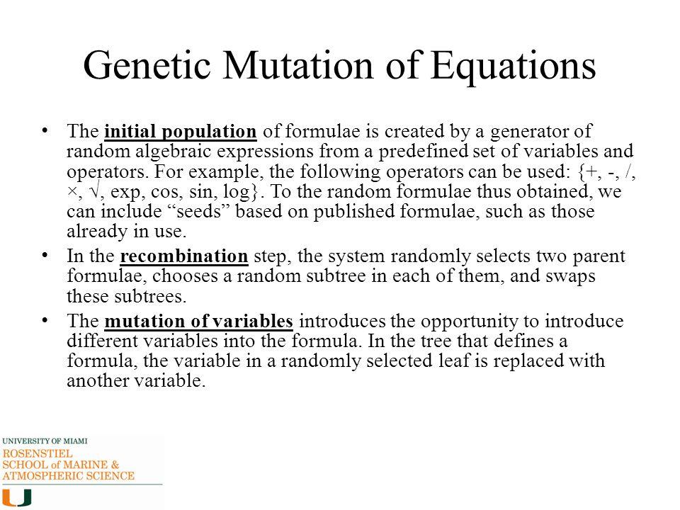 Genetic Mutation of Equations