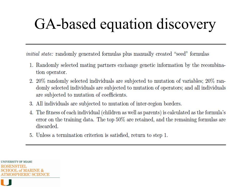 GA-based equation discovery