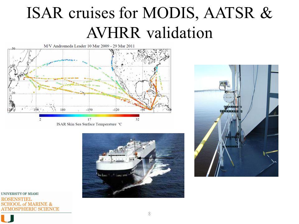 ISAR cruises for MODIS, AATSR & AVHRR validation