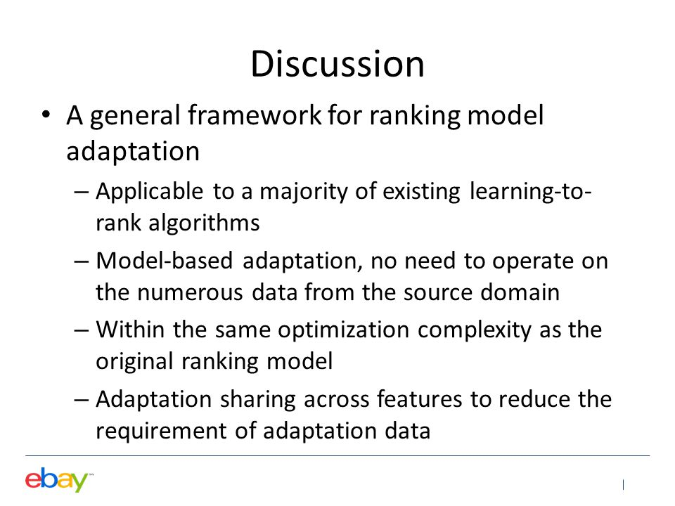 Discussion A general framework for ranking model adaptation