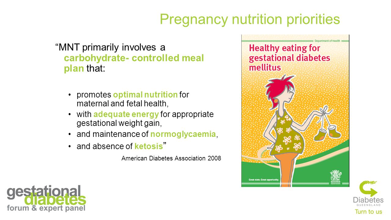 Pregnancy nutrition priorities