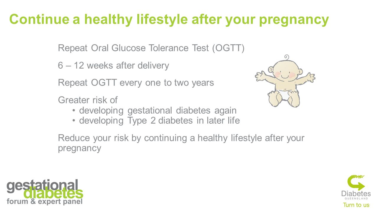 Continue a healthy lifestyle after your pregnancy