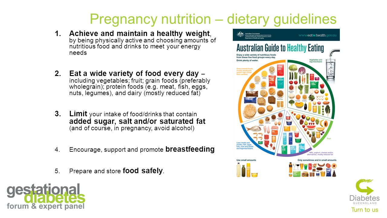 Pregnancy nutrition – dietary guidelines