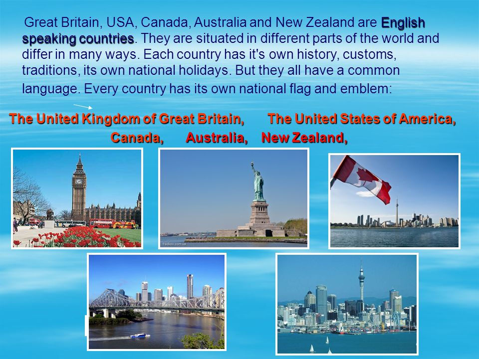 The United Kingdom of Great Britain, The United States of America,