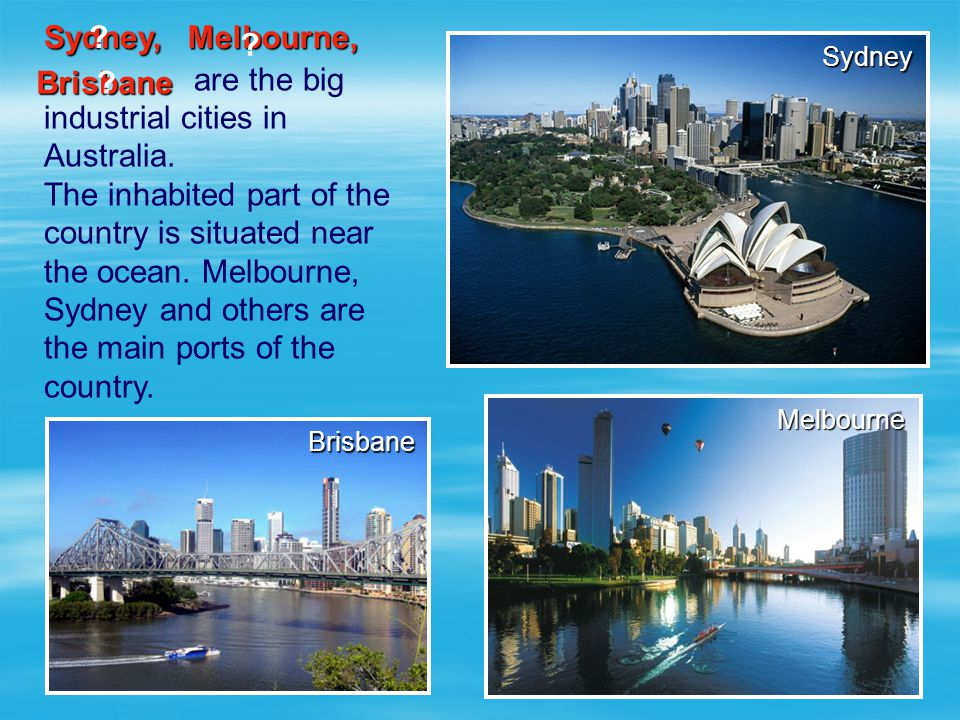 industrial cities in Australia.