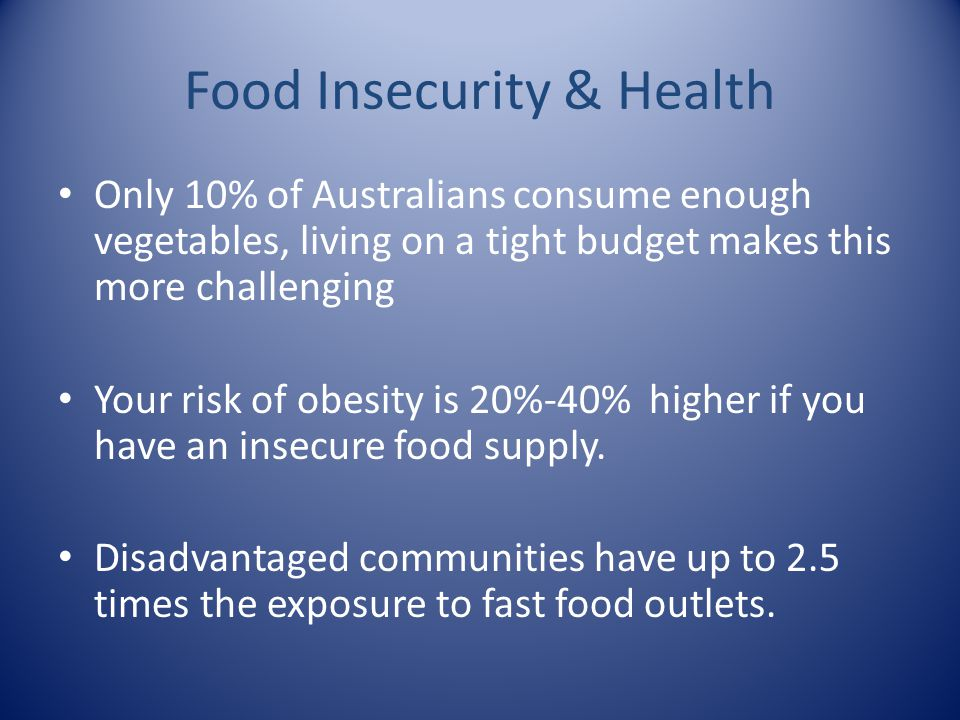Food Insecurity & Health